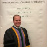 Dr. Herman in gown upon being inducted in to the International College of Dentists in Denver, CO